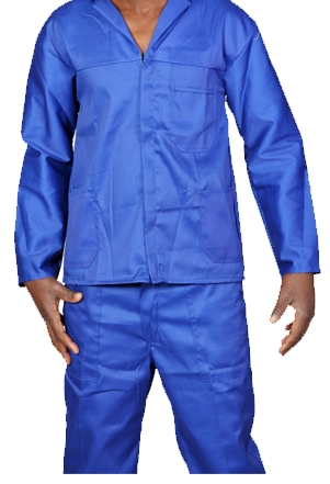 2pc Royal Blue Overalls