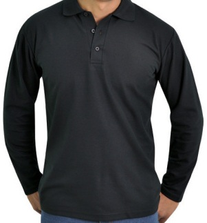 Long Sleeve Poly Cotton Golf Shirts