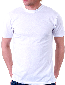 Adults 125gsm White Promo T-shirts - Unisex Round Neck
