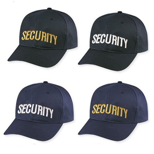 6 Panel Cotton Security Caps