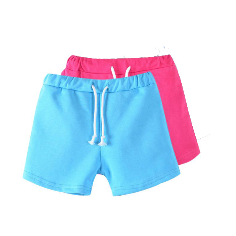 Girls slim fit cotton shorts with pockets