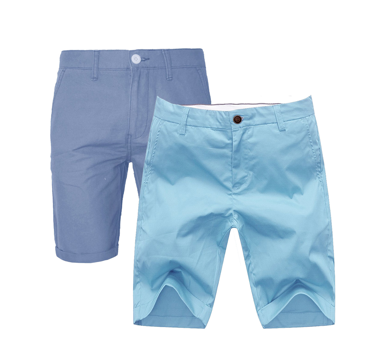 Mens slim fit shorts with pockets