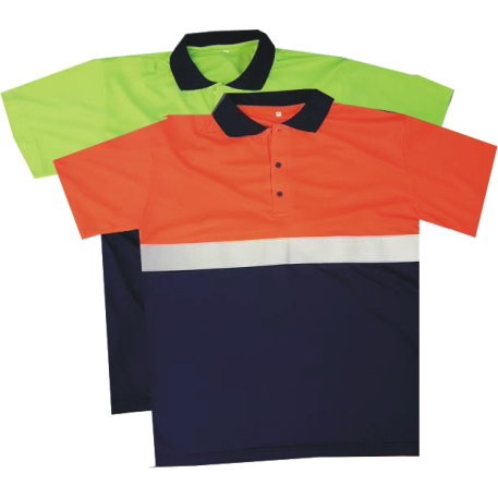 REFLECTIVE HI-VISIBILITY GOLF SHIRT
