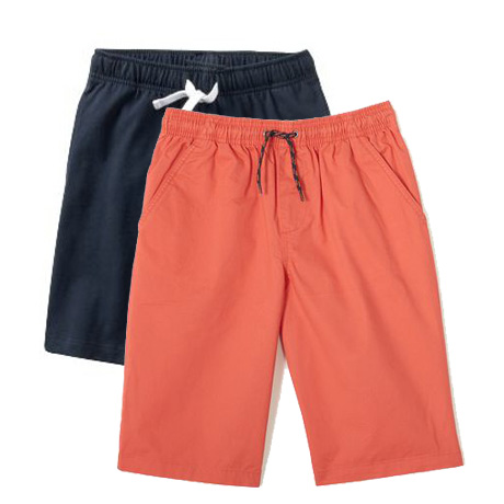 Boys slim fit cotton shorts with pockets